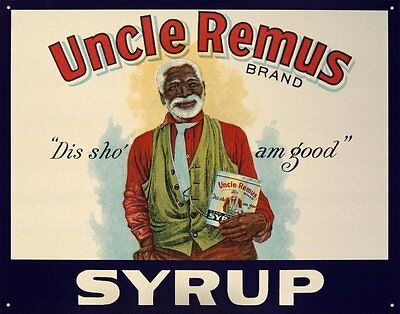 "Vintage Uncle Remus Brand Syrup Tin Sign 16"" x 13"""