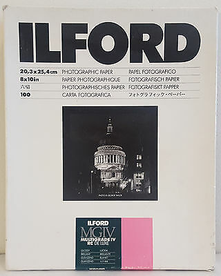 Ilford MGIV Multigrade IV RC Deluxe Glossy 8x10 Photographic Paper 56 Sheets