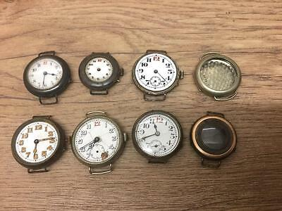 Ww1 Trench Wrist Watches & Cases 1 800 Silver Sold For Spares