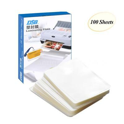 """DSB 3"""" Photo Paper Laminating Film Clear Sheet 80mic 100 Sheets Office Supply"""