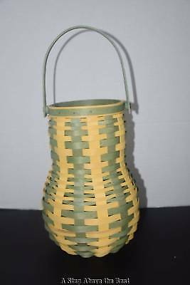 Longaberger 2017 Tall Gourd Basket in Sage & Pale Yellow - NEW