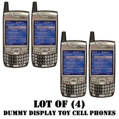 Lot of (4) NEW Verizon Palm 700w/700wx/Treo Dummy Display / Kids Toy Cell Phones