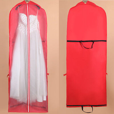 Bridal Gown Wedding Dress Garment Dustproof Foldable Cover Storage Bag Portable