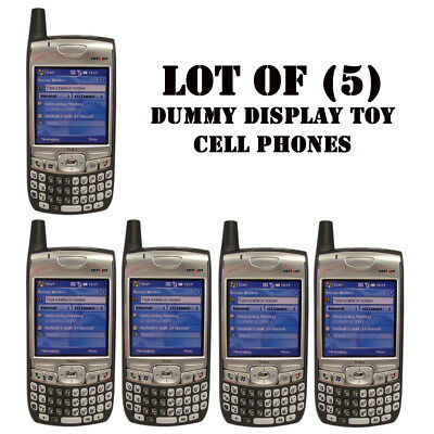 Lot of (5) NEW Verizon Palm 700w/700wx/Treo Dummy Display / Kids Toy Cell Phones