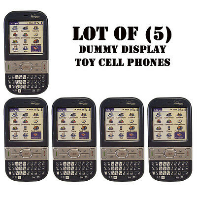 Lot of (5) Verizon Palm Centro 690 Mock Dummy Display / For Kids Toy Cell Phones