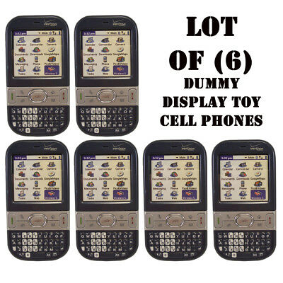 Lot of (6) Verizon Palm Centro 690 Mock Dummy Display / For Kids Toy Cell Phones