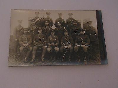 WW1 Photographic postcard style Group Photograph Army Officers