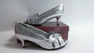 Dyeable Wedding Shoes -Tracy - Silver Shimmer - US 9EE - UK 7 X Wide #23L388