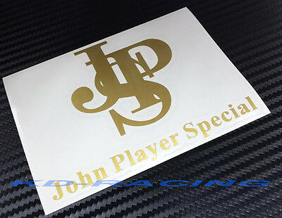 Set of 2 JPS John Player Special Sticker Decals F1 Lotus Any Color FREE SHIP