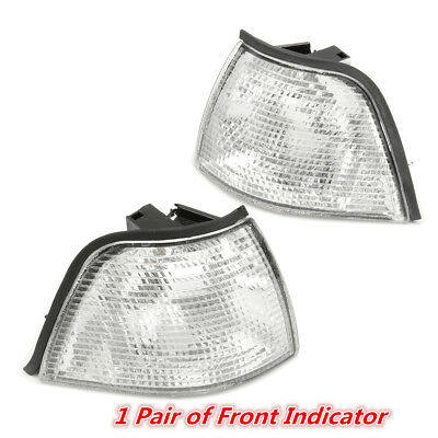 Pair Clear Front Signal Light Indicators Blinker Lamp For BMW 3 Series E36 91-99