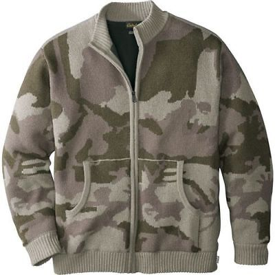 NEW Cabela's Men's Waterfowl Full-Zip Fatigue Sweater - Outfitter Camo -Sz: L