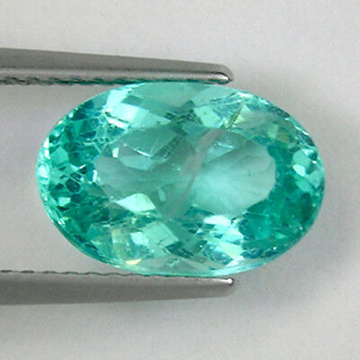 3.90 ct SHIMMERING _ BEST PARAIBA BLUE GREEN _ NATURAL APATITE # 3135