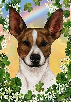 Garden Indoor/Outdoor Clover Flag - Brown Rat Terrier 311301