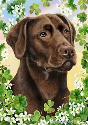 Garden Indoor/Outdoor Clover Flag - Chocolate Labrador Retriever 310281