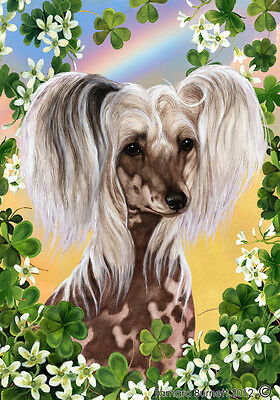 Garden Indoor/Outdoor Clover Flag - Chinese Crested 310691