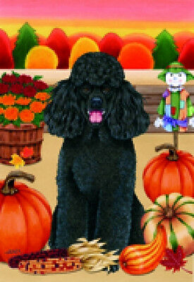 Garden Indoor/Outdoor Autumn Flag - Black Poodle (TP) 670061