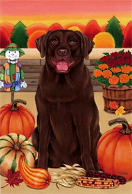 Garden Indoor/Outdoor Autumn Flag - Chocolate Labrador Retriever (TP) 670281
