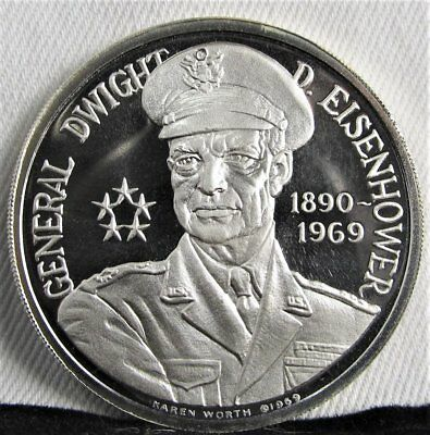 1890-1969 PROOF Dwight Eisenhower Commemorative Silver .999 Coin AD267