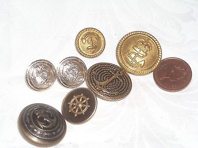 N82 Lot of 7 Mix Marine Military Buttons
