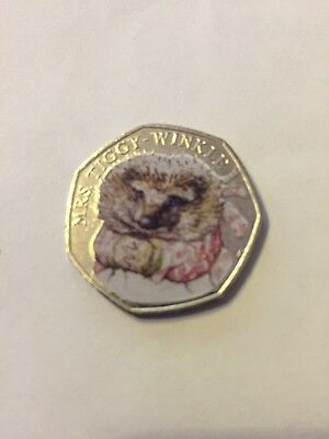 2016 Beatrix Potter Miss Tiggy Wink Colour  fifty pence 50p coin