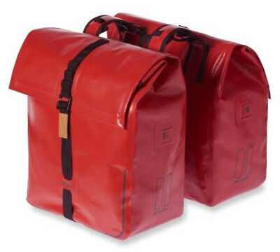 Basil Urban Dry 50L Double Pannier Bag Red