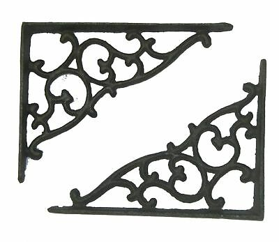 "Lot/Set of 5 Antique-Style Cast Iron SMALL 5 1/4"" x 7"" SHELF BRACKETS (NO BOX)"
