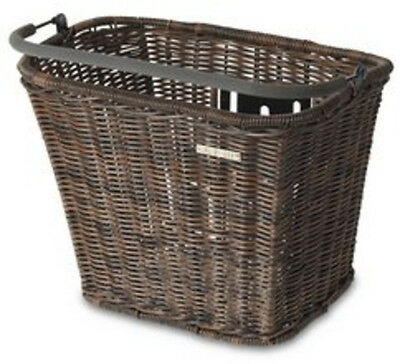 Basil Rattan Removable Front Bicycle Basket Basimply II Brown