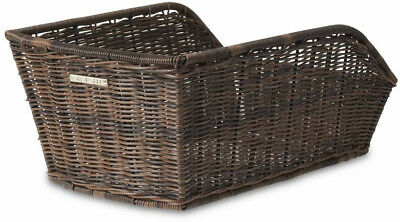 Basil Cento Rattan Fixed Bicycle Rear Basket Brown