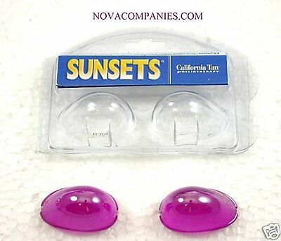 Tanning Bed Eyewear SUNSETS Goggle eye protection Purple