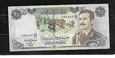 IRAQ #73a 1995 25 DINAR  VG CIRCULATED  OLD PAPER MONEY CURRENCY BANKNOTE NOTE