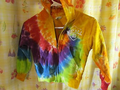 Youth Tie Dye Hooded Sweatshirt Kids Boys Girls Hoodie Child SIZE SMALL McALL ID