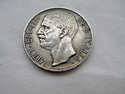Italy Beautiful Toned Au 10 Lire 1927 10 Grams Of .835 Silver