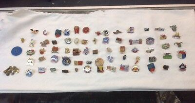 1990s 66 Count McDonalds Assorted Metal Pin Collection With Extra Backings
