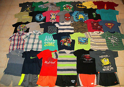 Boys Clothes/Outfits/Tops/Shirts Lot of 40 Size 6-6/7 Summer