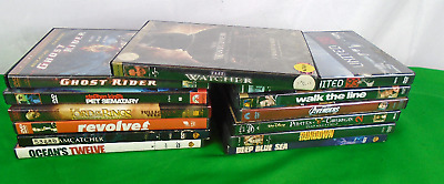 TESTED Lot of 13 Mixed DVD's-Action, Thriller and Suspense(650)