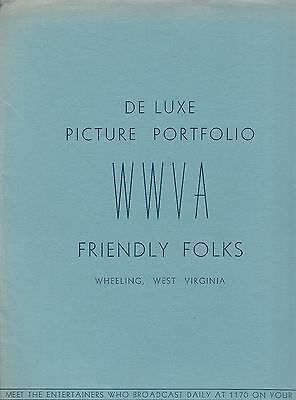 WWVA Deluxe Picture Portfolio Pete Cassell Newcomer Twins - Grand Ole Opry