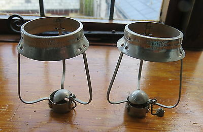 Pair Of Antique Greens Artic Candle Lamps