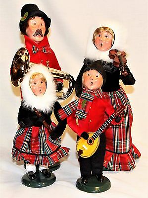 Byers Choice Music Family Carolers w/ Tuba Clarinet Violin Mandolin - New 2017
