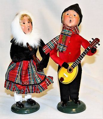 Byers Choice Music Family Boy & Girl Carolers w/ Clarinet Mandolin - New 2017