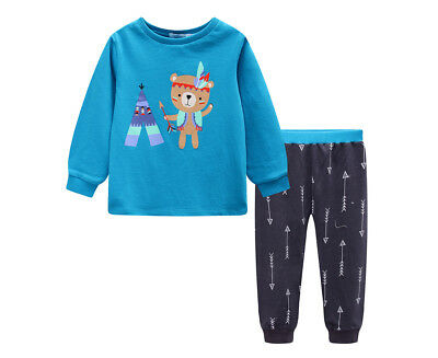 Undercover Crew Baby/Toddler Bear 2-Piece PJ Set - Teal