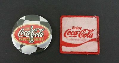 Vintage Coca Cola Racing Pin and Patch