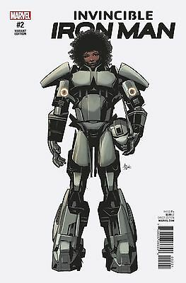 Invincible Iron Man #2 1:10 Mike Deodato Teaser Variant Marvel Comics
