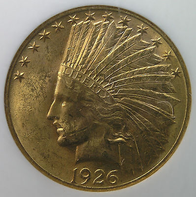 $10 1926 Indian Head Gold Eagle NGC MS61 * AvenueCoin