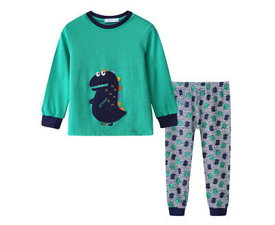 Undercover Crew Baby/Toddler Dino 2-Piece PJ Set - Green
