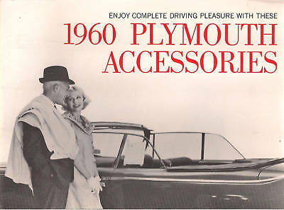 1960 PLYMOUTH ACCESSORIES 20-page advertising brochure