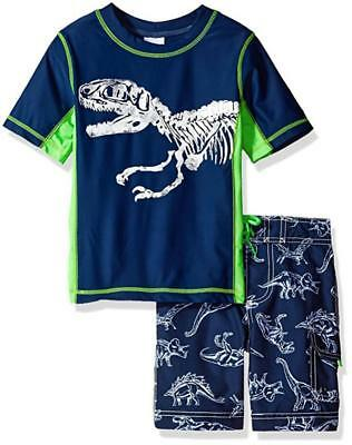 Carter's Boys Short Sleeve Dinosaur Rash Guard Swim Set Size 4 5 6 7