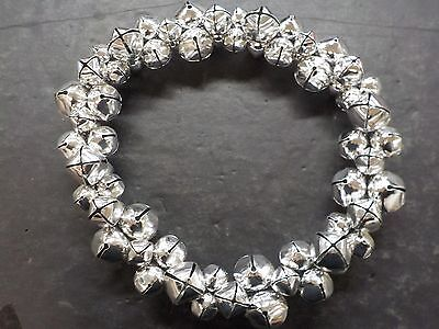 Silver Jingle Bell LARGE Christmas Wreath Shiny Bright