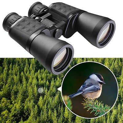Wide Angle 10-50x50 Zoom Binoculars Telescope Day Night Vison Waterproof Travel
