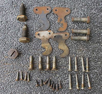 Lot Antique Singer Model 66 Sewing Machine Screws Bolts Brackets