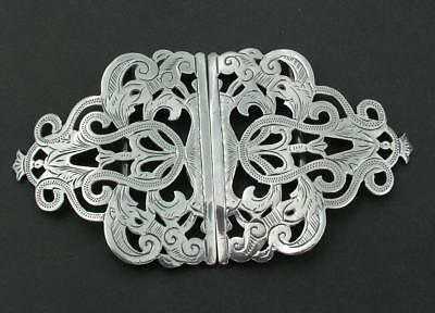 Sterling Silver Edwardian Hm 1902 Nurses Belt Buckle Deakin & Francis - Lot 76